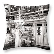Marilyn On Route 66 Throw Pillow