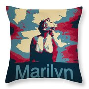 Marilyn Poster Throw Pillow