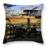 Marina At Dawn Throw Pillow