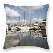Marina At Granville Island Vancouver Bc Throw Pillow
