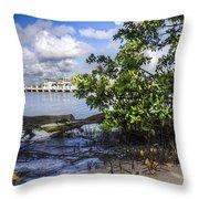 Marina At The Inlet Throw Pillow