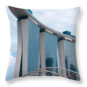 Marina Bay Sands Hotel 01 Throw Pillow