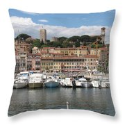 Marina Cannes Throw Pillow