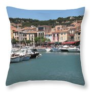 Marina Cassis Throw Pillow