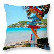 Marina Cay Sign Throw Pillow