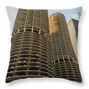 Marina City Chicago Throw Pillow