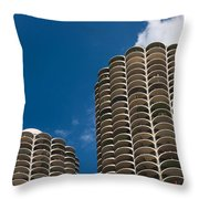 Marina City Morning Throw Pillow