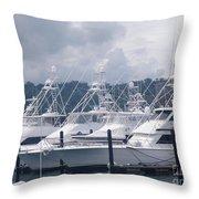 Marina Costa Rica Throw Pillow
