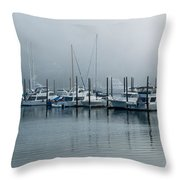 Marina Fog Throw Pillow