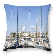 Marina Gran Canaria Throw Pillow