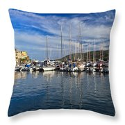 marina in Porto Azzurro Throw Pillow