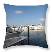 Marina Key West - Harbored Fun Throw Pillow