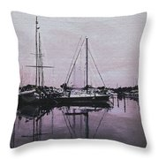 Marina Reflections Throw Pillow