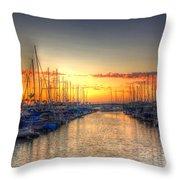 Marina Summer Sunset Throw Pillow
