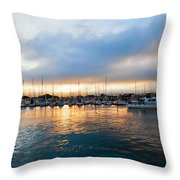 Marina Sunrise 1 Throw Pillow by Jim Thompson