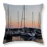 Marina Sunset Afterglow Throw Pillow
