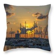 Marina Sunset Throw Pillow