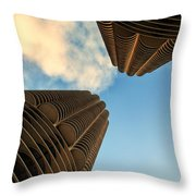 Marina Towers Throw Pillow