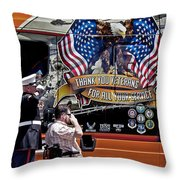 Marine And Wounded Warrior Throw Pillow