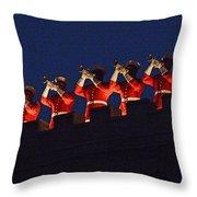 Marine Band At Night Throw Pillow