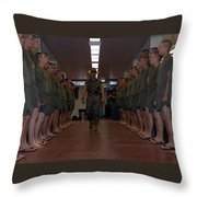 Marine Basic Training Throw Pillow
