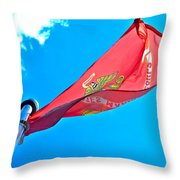 Marine Corps Flag Throw Pillow