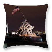 Marine Corps War Memorial Throw Pillow