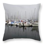 Marine Fog Throw Pillow