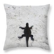Marine Iguanas Galapagos Throw Pillow