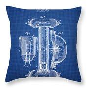Marine Lifebuoy Patent From 1894 - Blueprint Throw Pillow