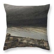 Marine Terrace In Jersey Throw Pillow by Victor Hugo
