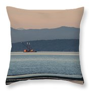 Marine Traffic Throw Pillow