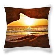 Marineland's Sunrise Dolphin Throw Pillow