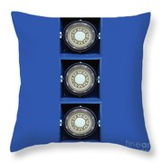 Mariners Compass Blue Throw Pillow
