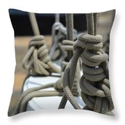 Mariners Knots Throw Pillow