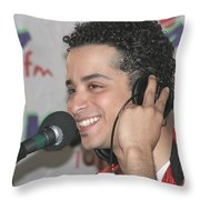 Singer Mario Vazquez Throw Pillow