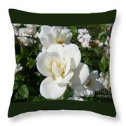 Mariposa Blanca Throw Pillow