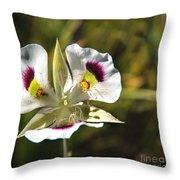 Mariposa Lily Throw Pillow