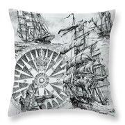 Maritime Heritage Throw Pillow