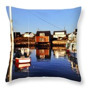 Maritme Shadows And Reflections Throw Pillow