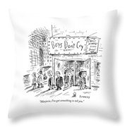 Marjorie, I've Got Something To Tell You Throw Pillow