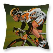 Mark Cavendish Throw Pillow by Paul Meijering