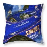Mark Donohue 1972 Indy 500 Winning Car Throw Pillow
