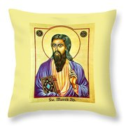 Mark The Evangelist Icon Throw Pillow