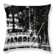 Mark Twain Riverboat Frontierland Disneyland Vertical Sc Throw Pillow