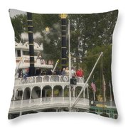 Mark Twain Riverboat Frontierland Disneyland Vertical Throw Pillow
