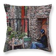 Market Busker 15 Throw Pillow