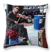 Market Busker 18 Throw Pillow