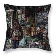 Market Busker 8 Throw Pillow