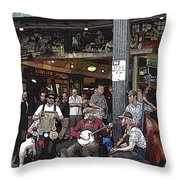 Market Buskers 3 Throw Pillow